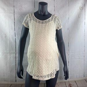 Motherhood Maternity ivory lace top